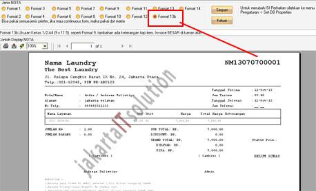 Software Laundry Versi 580 Update 11 Oktober 2013