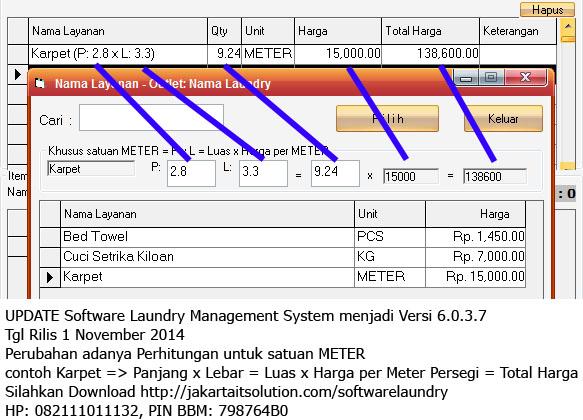 Update Software Laundry Versi 6037 Tanggal Rilis 1